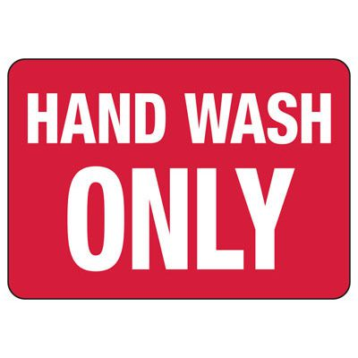 Hand Wash Safety Signs