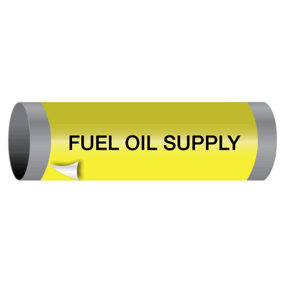 Fuel Oil Supply - Ultra-Mark® Self-Adhesive High Performance Pipe Markers