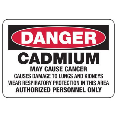 Mandatory GHS Safety Signs - Danger Cadmium