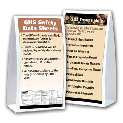 GHS Tabletop Tent Cards - Safety Data Sheets