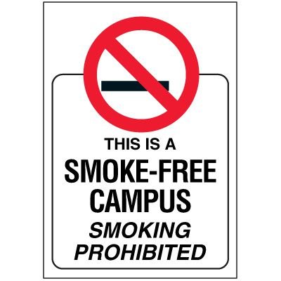 Smoke-Free Campus Door and Window Labels