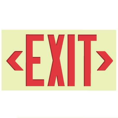GloBrite® Photoluminescent Exit Signs - Unframed Jumbo Size - Jessup 80334