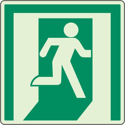 Glowing Emergency Exit Sign