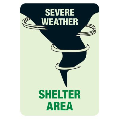 Weather Shelter Glow Sign