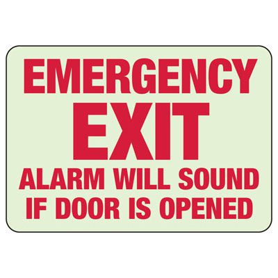 Emergency Exit Alarm Safety Sign