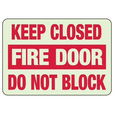 Keep Fire Door Closed Glow Sign