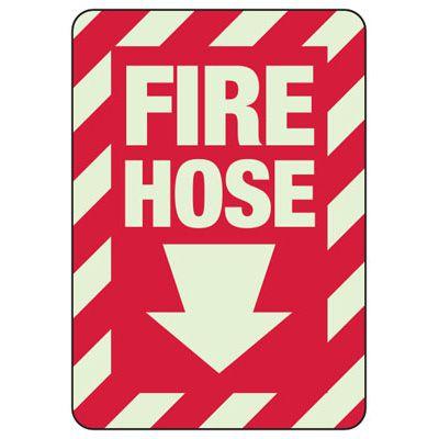 Fire Hose (Down Arrow) - Fire Equipment Signs