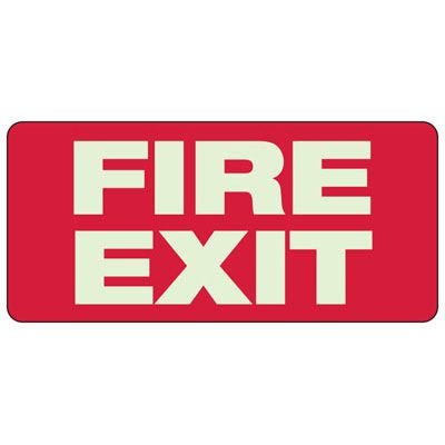 Fire Exit Sign, 6-1/2 x 14