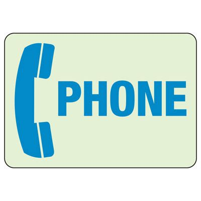 Glow In The Dark Phone Sign