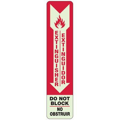 Bilingual Extinguisher Glow Sign