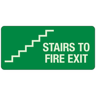 Stairs To Fire Exit Sign