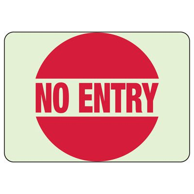 No Entry Glow Sign