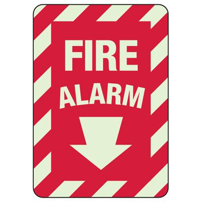 Fire Alarm Glow Sign