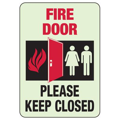 Keep Clear Of Fire Extinguisher- Fire Equipment Glow Signs