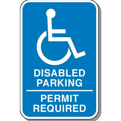Disabled Parking Permit Required Sign