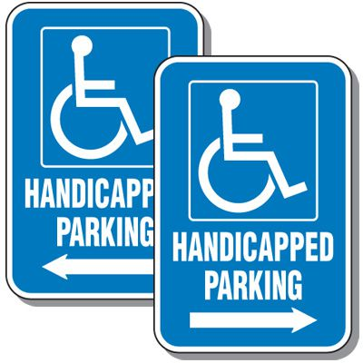 Handicap Parking Directional Sign