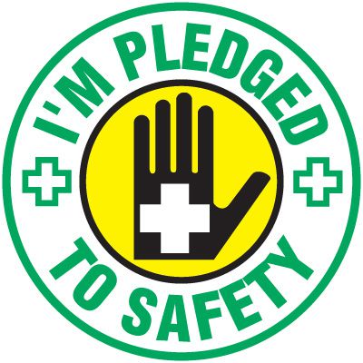 Safety Training Labels - I'm Pledged To Safety