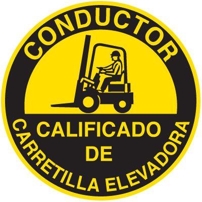 Safety Training Labels -Bilingual - Conductor Calificado De Carretilla Elevadora