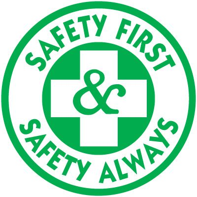 Safety Training Labels - Safety First & Safety Always