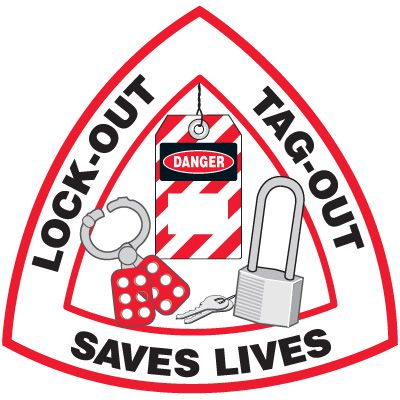 Safety Training Labels - Lock-Out Tag-Out Saves Lives