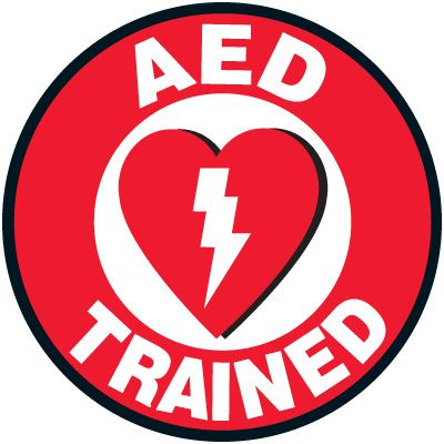 Safety Training Labels - AED Trained