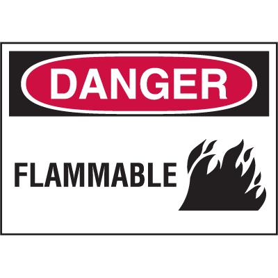 Hazard Warning Labels - Danger Flammable