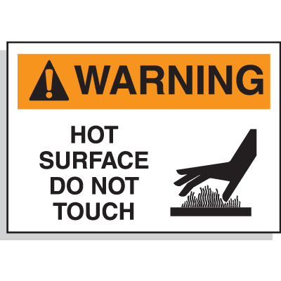 Hazard Warning Labels - Warning Hot Surface Do Not Touch