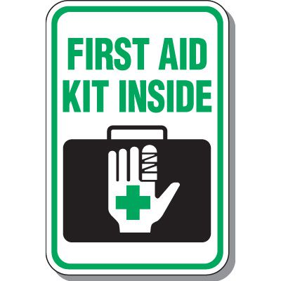 First Aid Kit Inside Symbol Sign