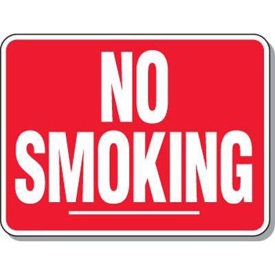 Heavy-Duty Smoking Signs - No Smoking