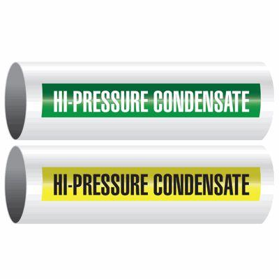 Hi-Pressure Condensate - Opti-Code™ Self-Adhesive Pipe Markers