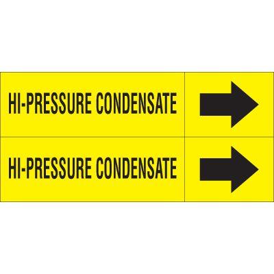 Hi-Pressure Condensate - Weather-Code™ Self-Adhesive Outdoor Pipe Markers