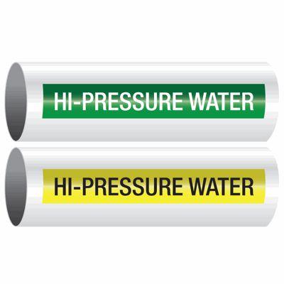 Hi-Pressure Water - Opti-Code™ Self-Adhesive Pipe Markers
