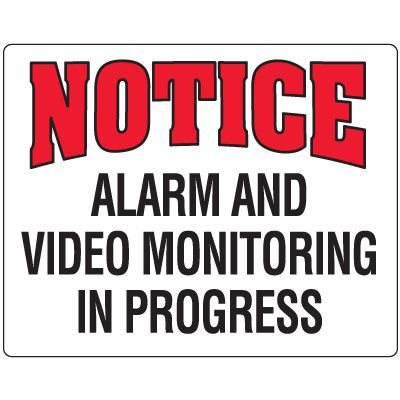 Alarm and Video Security Signs