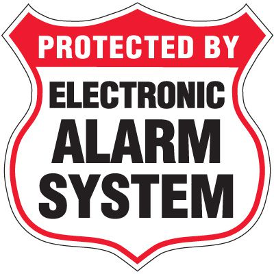 Alarm System Security Signs