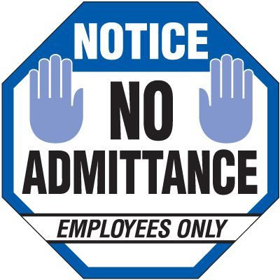 Employees Only Security Signs