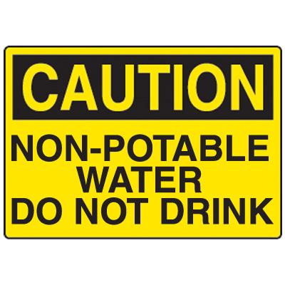 Non-Potable Water Fiberglass Sign