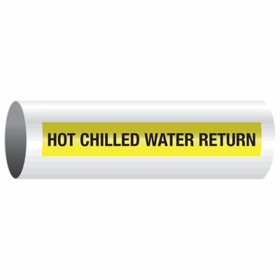 Hot Chilled Water Return - Opti-Code® Self-Adhesive Pipe Marker