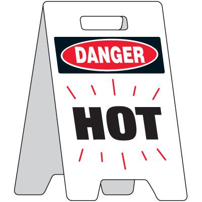 Danger Hot Portable Floor Stand