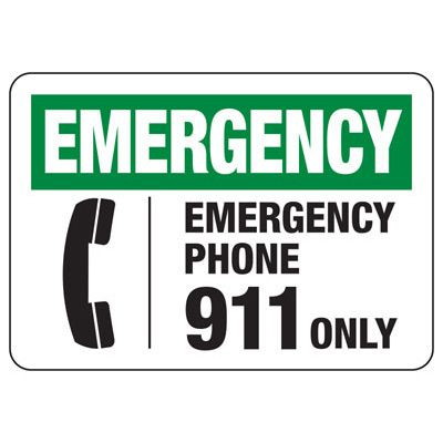 In Case of Emergency Signs - Emergency Phone