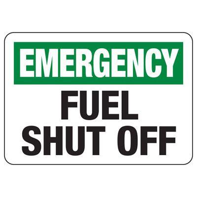 In Case of Emergency Signs - Emergency Fuel Shut-Off