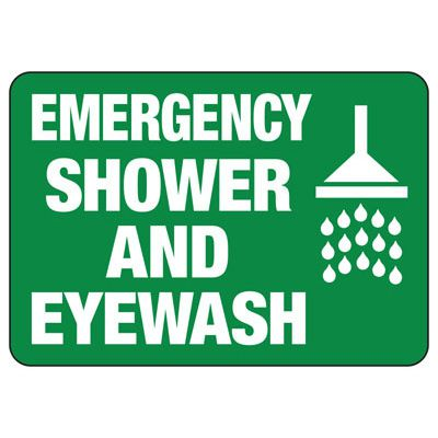 Emergency Shower And Eyewash Sign