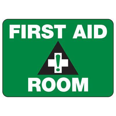 Shower, Eyewash & First Aid Signs - First Aid Room