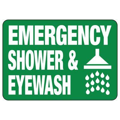 Glow Emergency Shower And Eyewash Sign