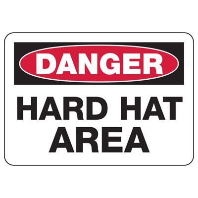 Danger Hard Hat Construction Signs