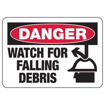 Danger Falling Debris Construction Signs