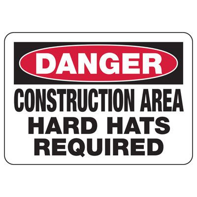 Danger Construction Area Signs
