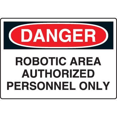 Industrial OSHA Machine Hazard Sign
