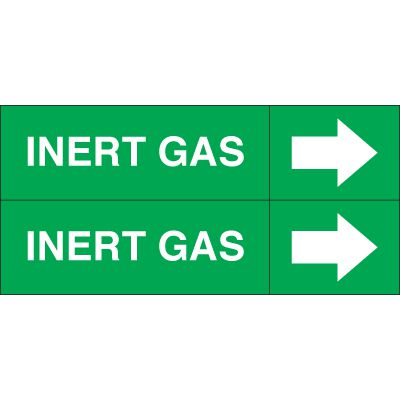 Inert Gas - Weather-Code™ Self-Adhesive Outdoor Pipe Markers