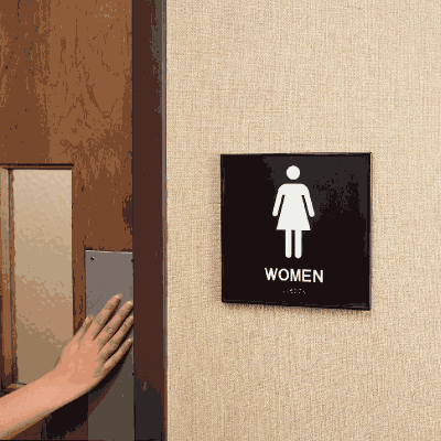 Women's Restroom Braille Signs - Injection Molded Signs