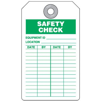 Safety Check Tag